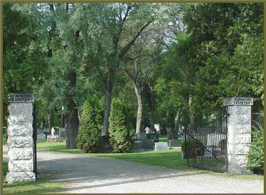 Entrance to Elmwood Cemetery, off Hespeler Avenue.