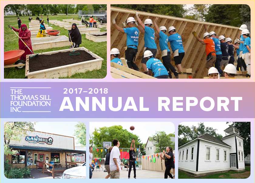 Thomas Sill Foundation Annual Report graphic