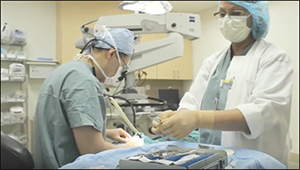 The Misericordia Health Centre Ophthalmology team in surgery.