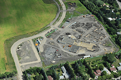 Aerial view of the new Tabor Home construction.